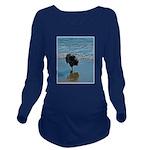 Keeshond Ballet Long Sleeve Maternity T-Shirt