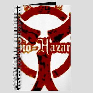 Zombie red bio-hazard Warning Journal