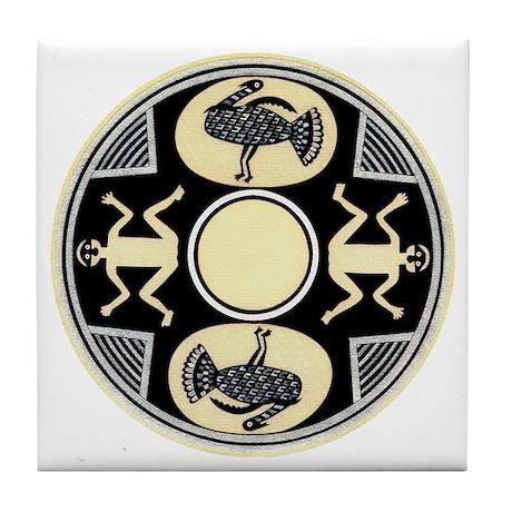 MIMBRES MEN'S TURKEY BOWL DESIGN Tile Coaster