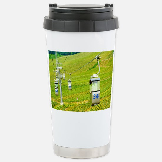 Cable Car over winefiel Stainless Steel Travel Mug