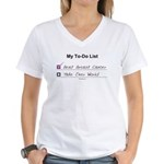 My To-Do List (Breast Cancer) Women's V-Neck T