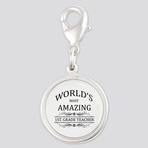 World's Most Amazing 1st. Grad Silver Round Charm