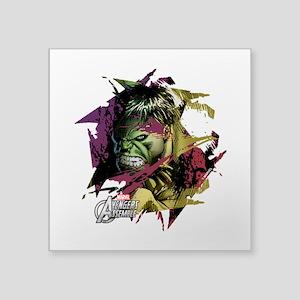 "Hulk Basecamp Square Sticker 3"" x 3"""