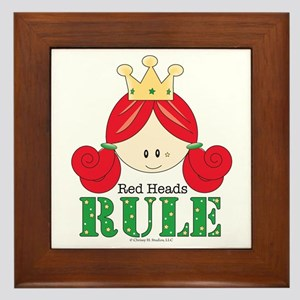 Red Heads Rule Framed Tile