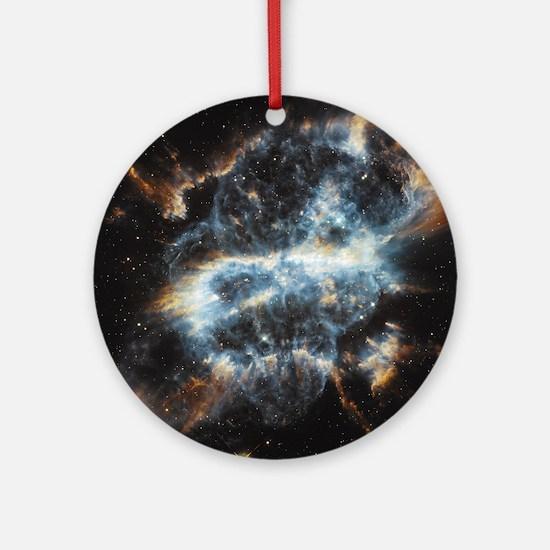 NGC 5189 planetary nebula Round Ornament