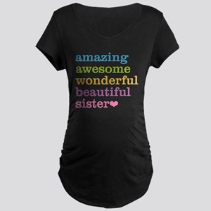 Amazing Sister Maternity Dark T-Shirt