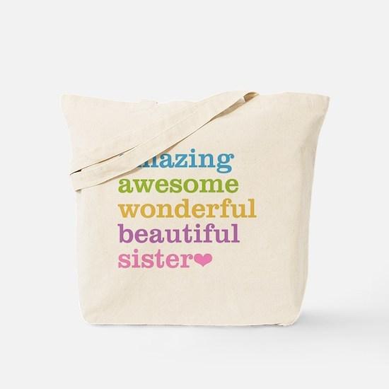 Amazing Sister Tote Bag