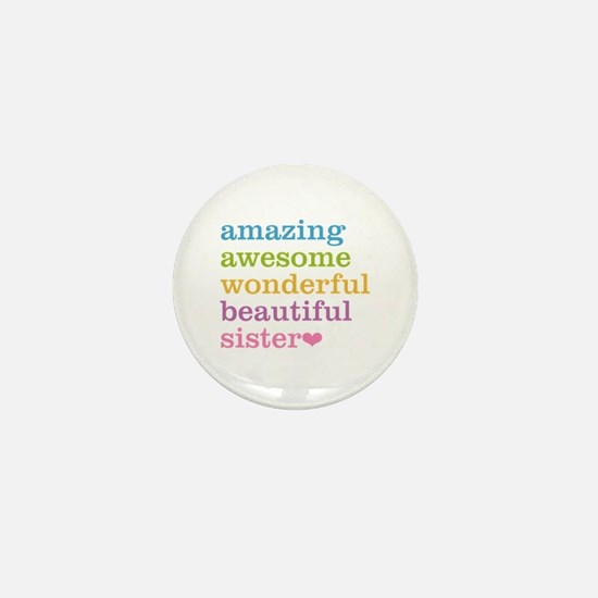 Amazing Sister Mini Button