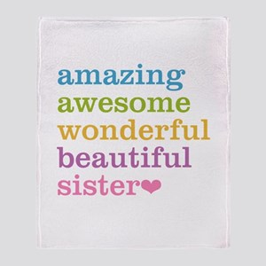Amazing Sister Throw Blanket