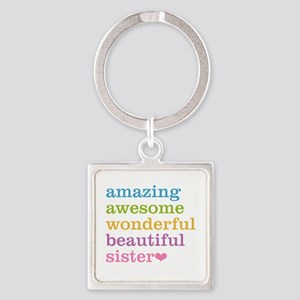 Amazing Sister Square Keychain