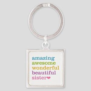 Amazing Sister Square Keychain