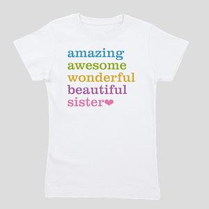 Amazing Awesome Sister Girl's Tee