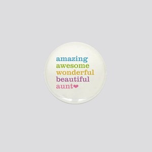 Amazing Aunt Mini Button