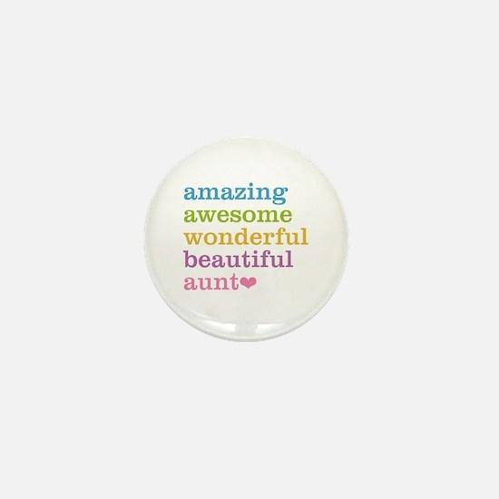 Amazing Aunt Mini Button