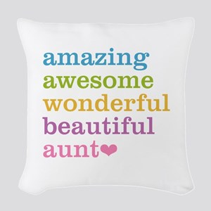 Amazing Aunt Woven Throw Pillow