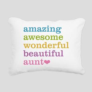 Amazing Aunt Rectangular Canvas Pillow