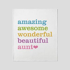Amazing Aunt Throw Blanket