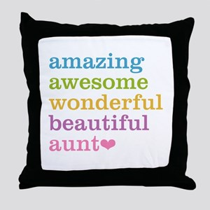 Amazing Aunt Throw Pillow