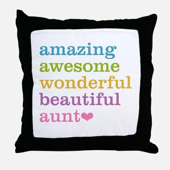 Amazing Aunt Throw Pillow