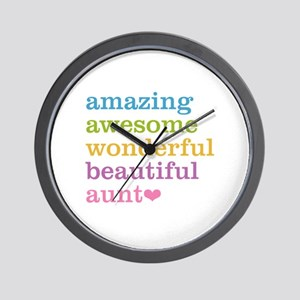 Amazing Aunt Wall Clock