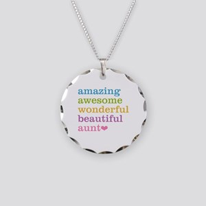 Amazing Aunt Necklace Circle Charm