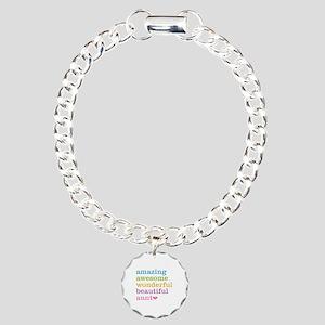 Amazing Aunt Charm Bracelet, One Charm