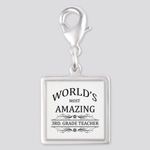 World's Most Amazing 3rd. Gra Silver Square Charm