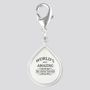 World's Most Amazing 3rd. G Silver Teardrop Charm