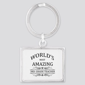 World's Most Amazing 3rd. Grade Landscape Keychain