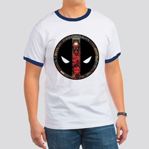Deadpool Logo Ringer T