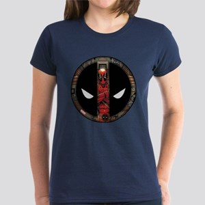 Deadpool Logo Women's Dark T-Shirt