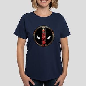 Deadpool Logo Women's Dark T-Shirt