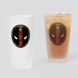 Deadpool Logo Drinking Glass