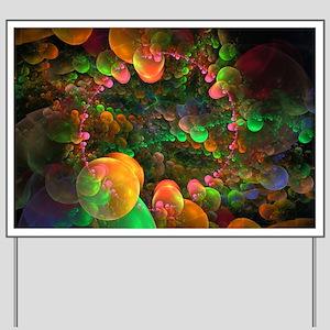 Colorful Fractal Art Yard Sign