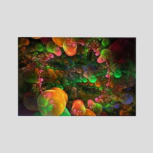 Colorful Fractal Art Rectangle Magnet