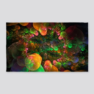 Colorful Fractal Art 3'x5' Area Rug