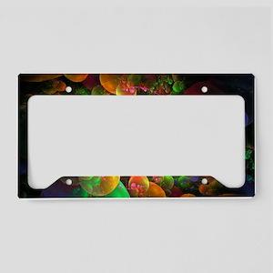 Colorful Fractal Art License Plate Holder
