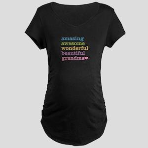Amazing Grandma Maternity Dark T-Shirt