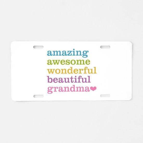 Amazing Grandma Aluminum License Plate