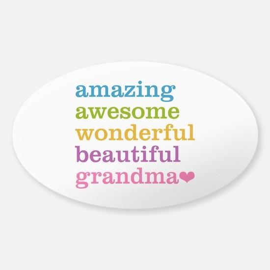 Amazing Grandma Sticker (Oval)