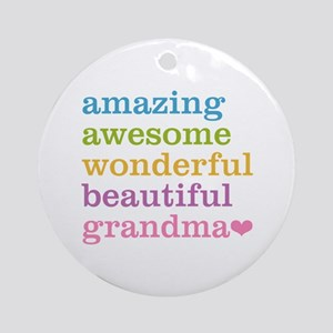 Amazing Grandma Ornament (Round)