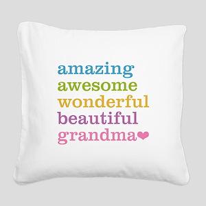 Amazing Grandma Square Canvas Pillow