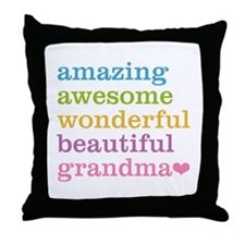 Amazing Grandma Throw Pillow