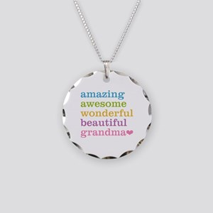 Amazing Grandma Necklace Circle Charm