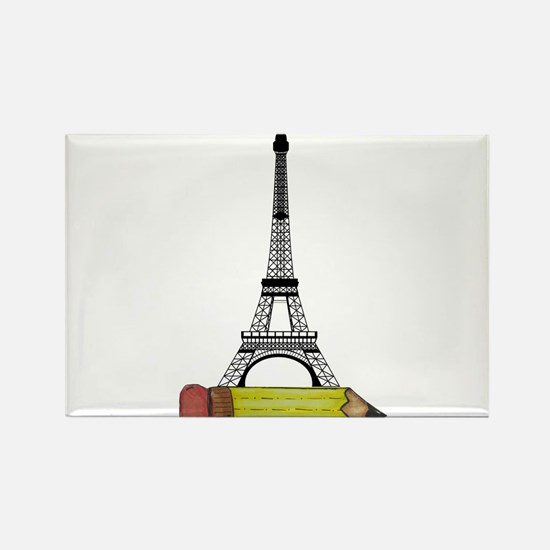 Eiffel Tower on Pencil Magnets