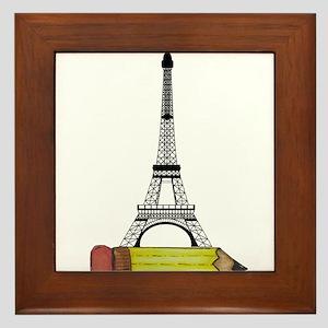 Eiffel Tower on Pencil Framed Tile