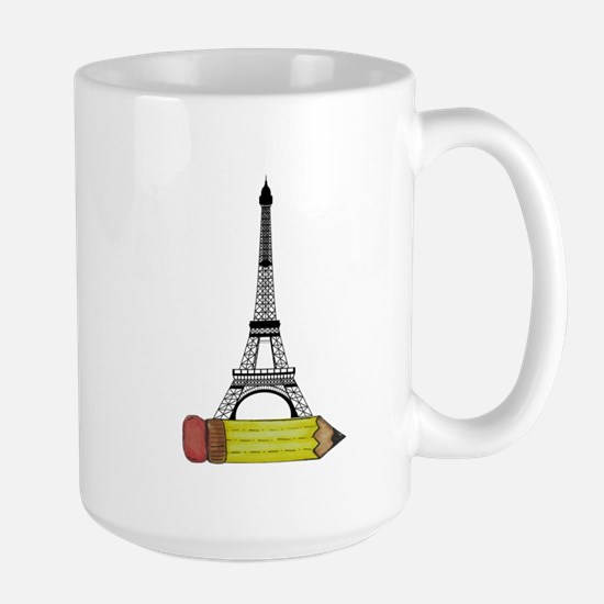 Eiffel Tower on Pencil Mugs