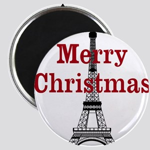 Merry Christmas Eiffel Tower Magnets