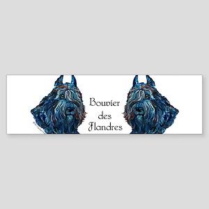 Bouvier des Flanders too Bumper Sticker