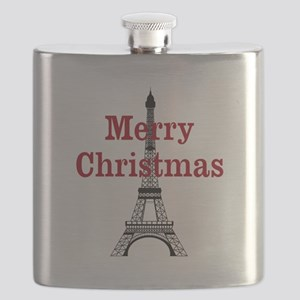 Merry Christmas Eiffel Tower Flask